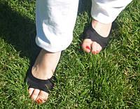 Подследники мягкие капроновые с защитой от натирания новыми туфлями Черные