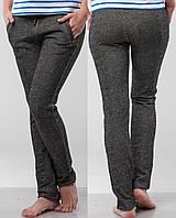 Женские брюки трикотажные темно-серые размер S, фото 1