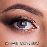 Цветные линзы Rainbow ЛЮКС качество с диоптриями от -1 до -6 с шагом 0,5 Mirage Misty Gray Турция