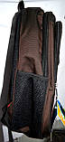 Мужские школьные рюкзаки на 3 отделения на молнии 28*40 см, фото 2