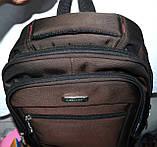 Мужские школьные рюкзаки на 3 отделения на молнии 28*40 см, фото 3