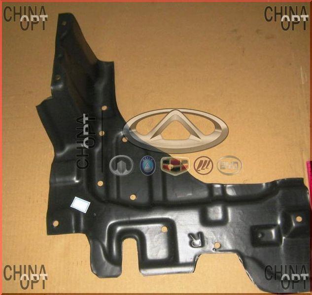 Защита двигателя пластиковая R, брызговик бампера, Geely MK2 [1.5, с 2010г.], 1018004683, Aftermarket