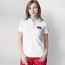 Женская медицинская футболка поло с аппликацией  S-XL