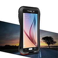 Чехол противоударный Love Mei Gorilla Glass для Samsung S6 G920 черный