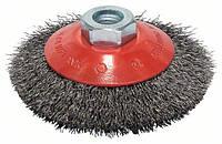 Щетка конусная из стальной проволоки Bosch Clean for Metal Ø 100x0.3 мм