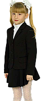 Пиджак для девочки школьный Промателье Фиалка 116-158 черная