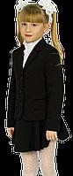 Пиджак для девочки школьный Промателье Фиалка 116-158 черная, фото 1
