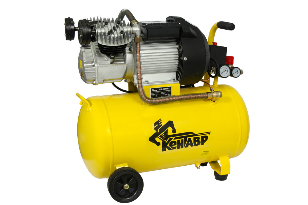 Компрессор 50л, 2,3 кВт, 2 цилиндра, Кентавр КП-5030В2
