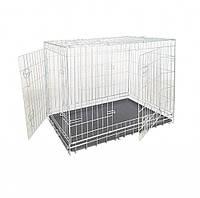 Клетка для собак 2 двери цинк