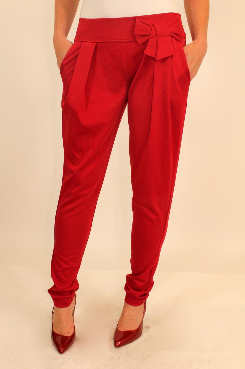 Красные брюки женские 42-48 р