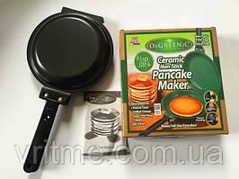 Подвійна сковорода для млинців та панкейків Flip Jack Pancake Maker, млинниця Orgreenic