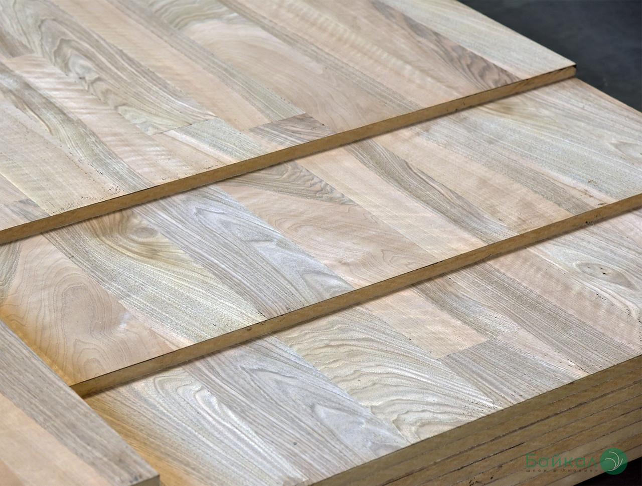 МДФ плита шпонированная Орехом Европейским в сучках (рисунок паркет) 19 мм 2,8х1,033 м