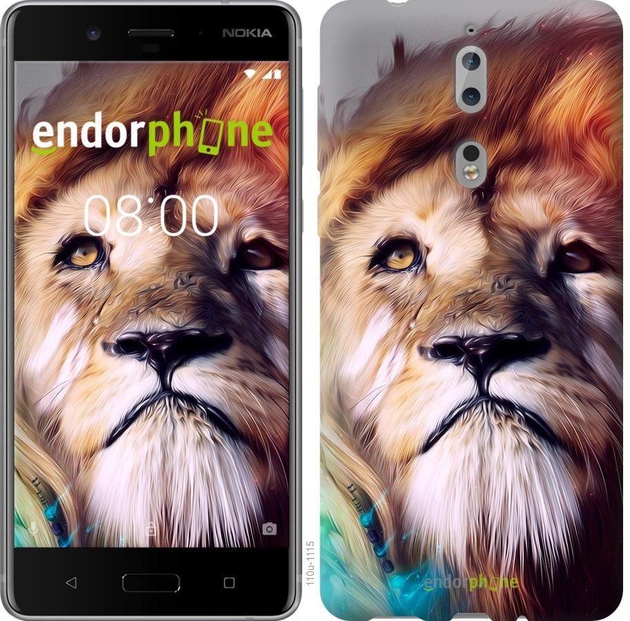 Чехол для телефона Nokia 8 Красочный лев