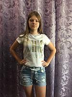 Джинсовые шорты на девочку модные 8(140)-18(170)