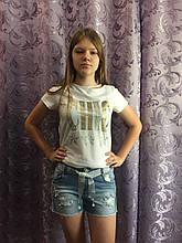 Джинсовые шорты на девочку модные 8(140)