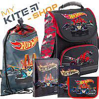 Рюкзак школьный Kite Education Hot Wheels HW19-500S Комплект 5 в 1