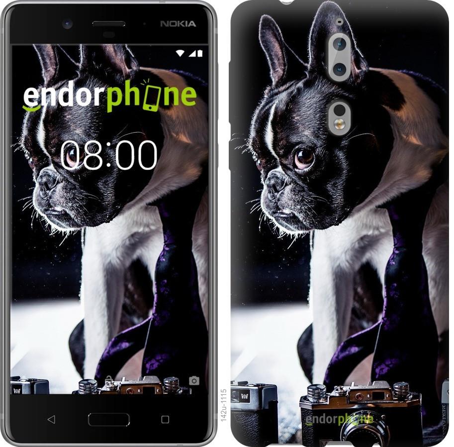 Чехол для телефона Nokia 8 Бульдог-фотограф