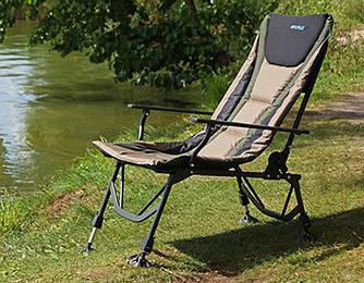 Крісла і розкладачки для риболовлі
