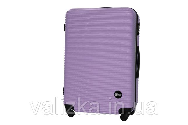 Большой пластиковый чемодан на 4-х колесах фиолетовый Fly , фото 2