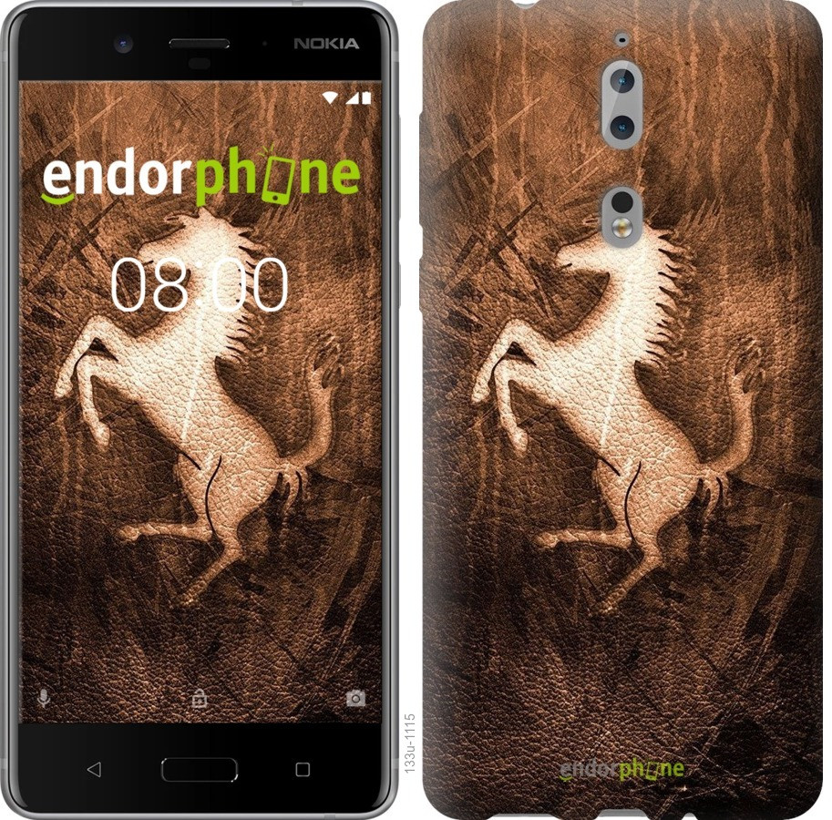 Чехол для телефона Nokia 8 Логотип Феррари на коже