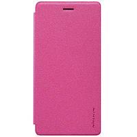 Чехол книжка Nillkin Sparkle Series для Huawei Ascend P8 Lite малиновый