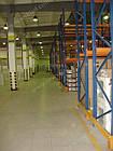 Складской стеллаж приставной H4500хL1800х1100 мм(пол.+2 уровня по 2400 кг на уровень), стеллаж для паллет, фото 6