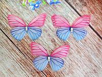 "Аппликация, ""Бабочка шифоновая"", двухслойная, цвет на фото, 45х35 мм, 1 шт., фото 1"