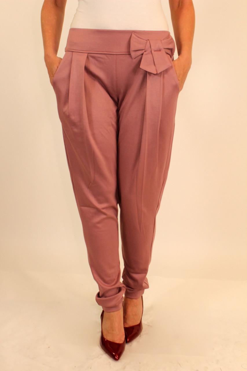 Трикотажные брюки с бантиком 42-48 р