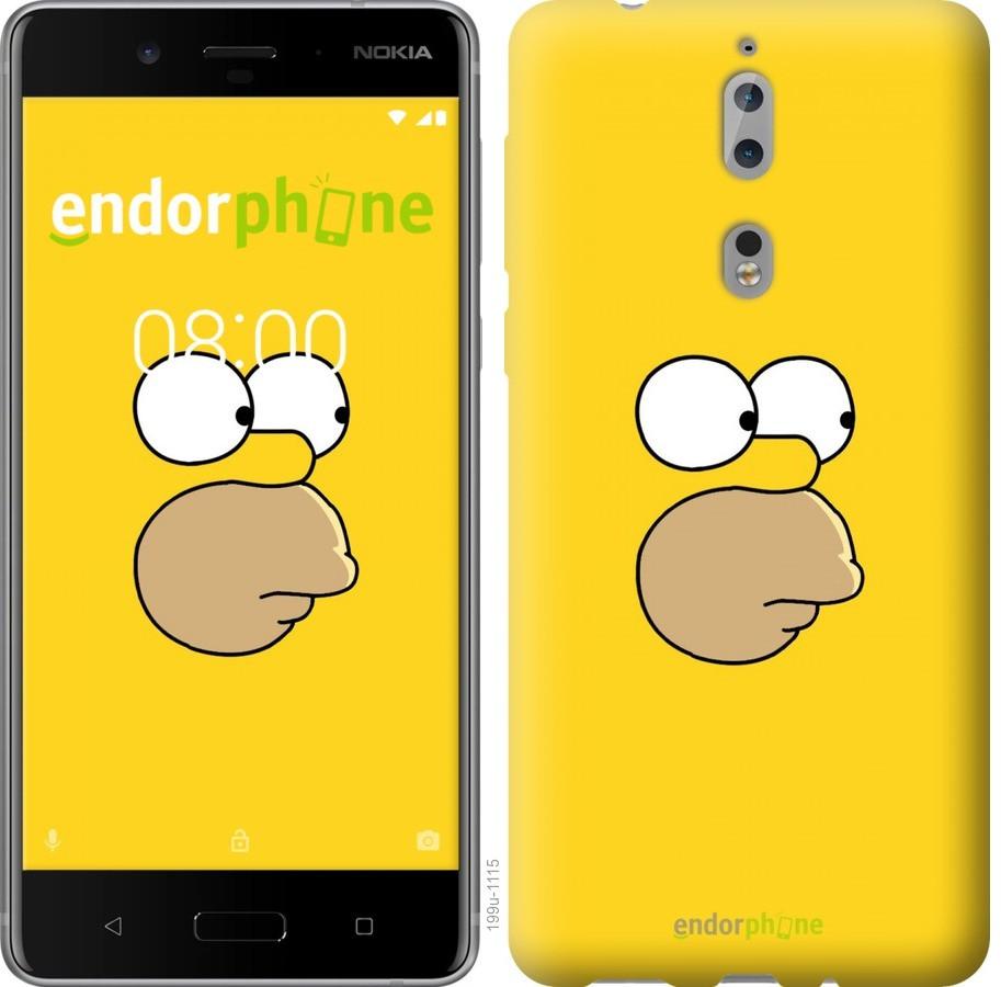 Чехол для телефона Nokia 8 Симпсоны
