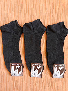 Носки мужские вставка сеточка укороченные хлопок+стрейч р.25-27 серый. От 6 пар по 5,50грн