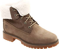 90cd48881 Женские ботинки Timberland Jayne Teddy Fleece Fold Down Waterproof Boot  Light Brown Nubuck