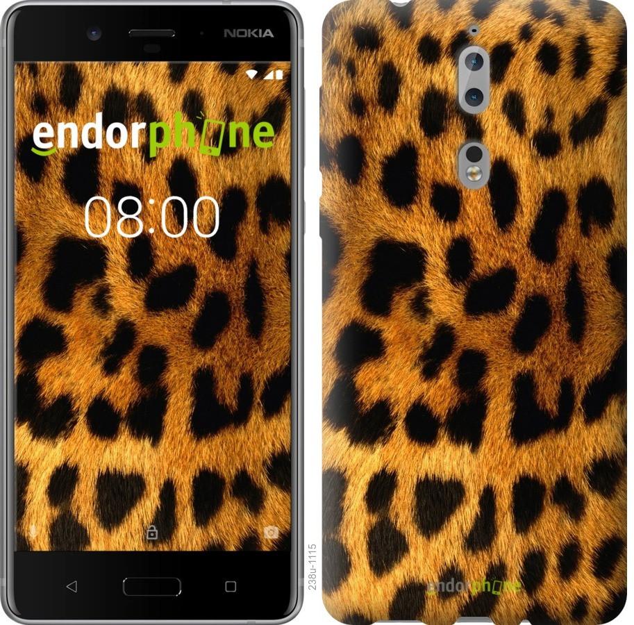 Чехол для телефона Nokia 8 Шкура Леопарда