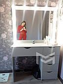 Гримерный стол визажиста с подсветкой M615 LOLA в цвете АЛЮМИНИЙ