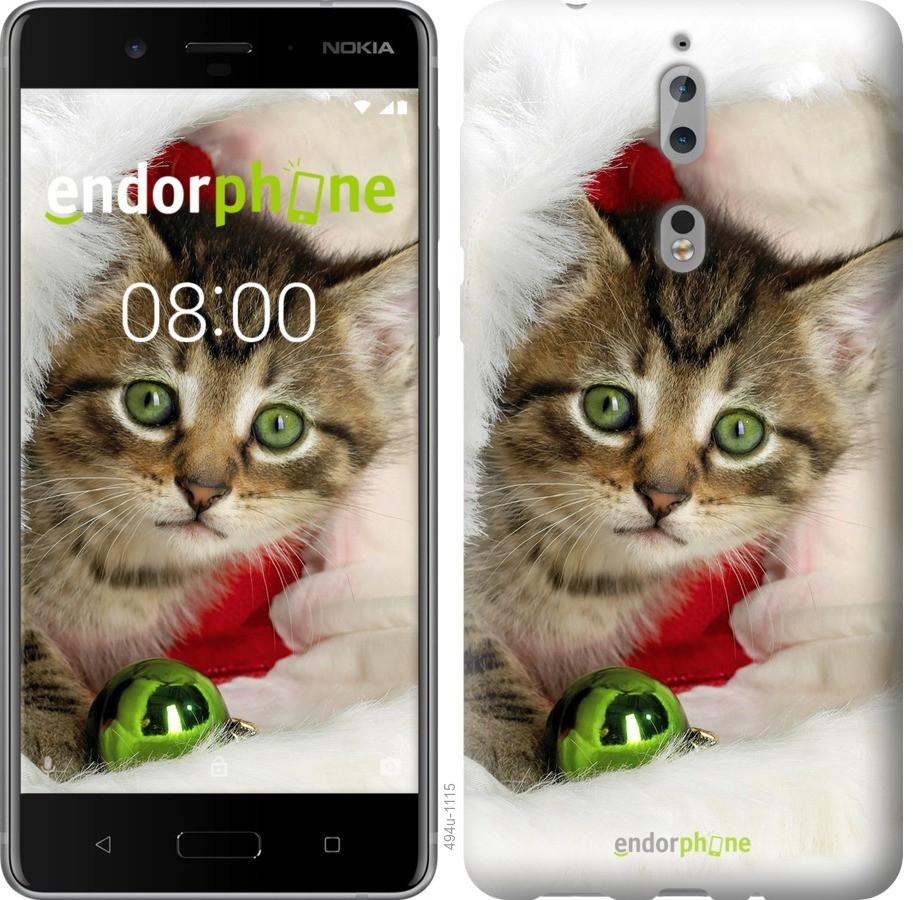 Чехол для телефона Nokia 8 котенок