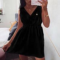Платье женское летнее мини костюмка