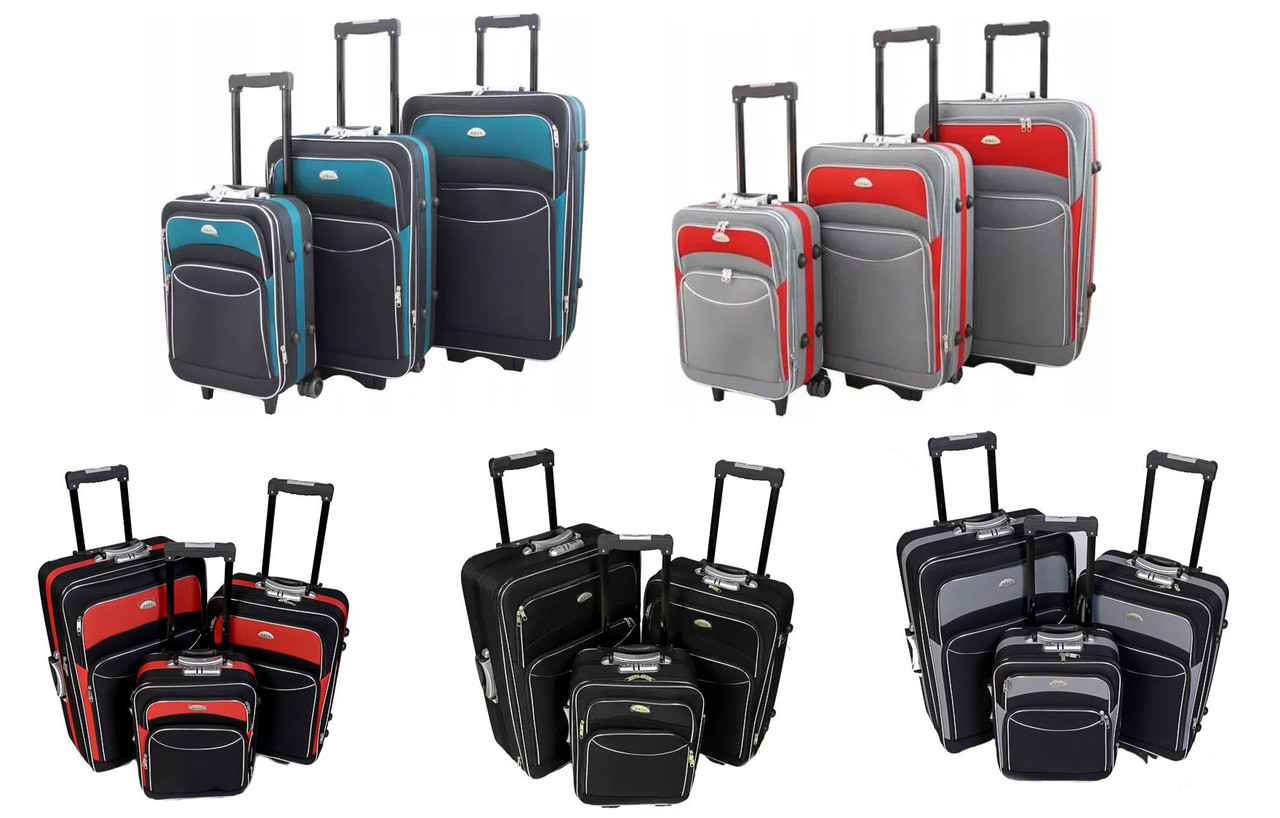 Набор чемоданов на колесах Deli 101