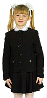 Пиджак для девочки школьный Фея Промателье сервис 128-152 черная