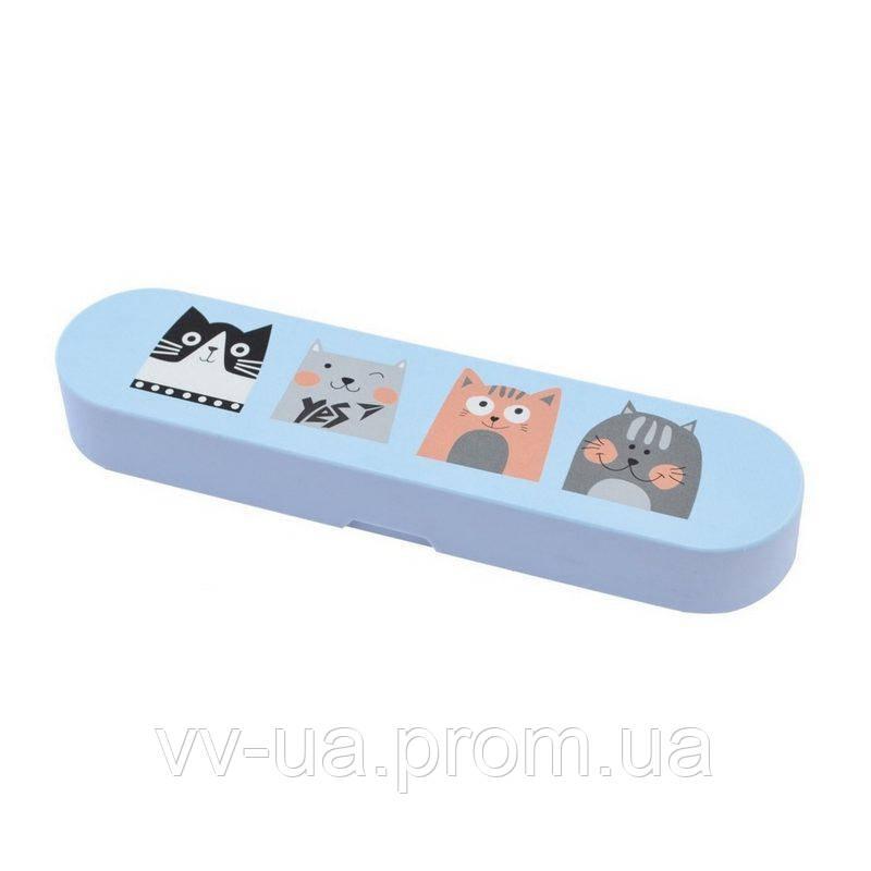 Пенал силиконовый Yes SL-02 Cats (532407)