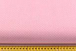 Лоскут ткани с белыми точками 2 мм на пудровом фоне №2238, фото 2