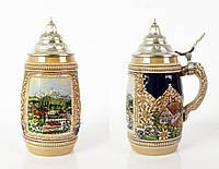 Пивной бокал, кружка керамика,Gerz, Германия 0,75л