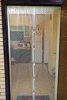 Москитная сетка на магнитах 120см *210 см / 110см * 210 см , сетка от комаров