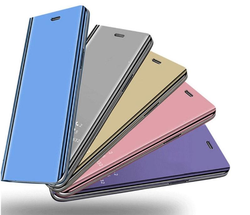 Зеркальный умный Smart чехол-книжка для Xiaomi Redmi Note 7 / Xiaomi Redmi Note 7 Pro / Есть защитные стекла /