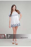 Короткое молодежное платье крестьяночка, фото 1