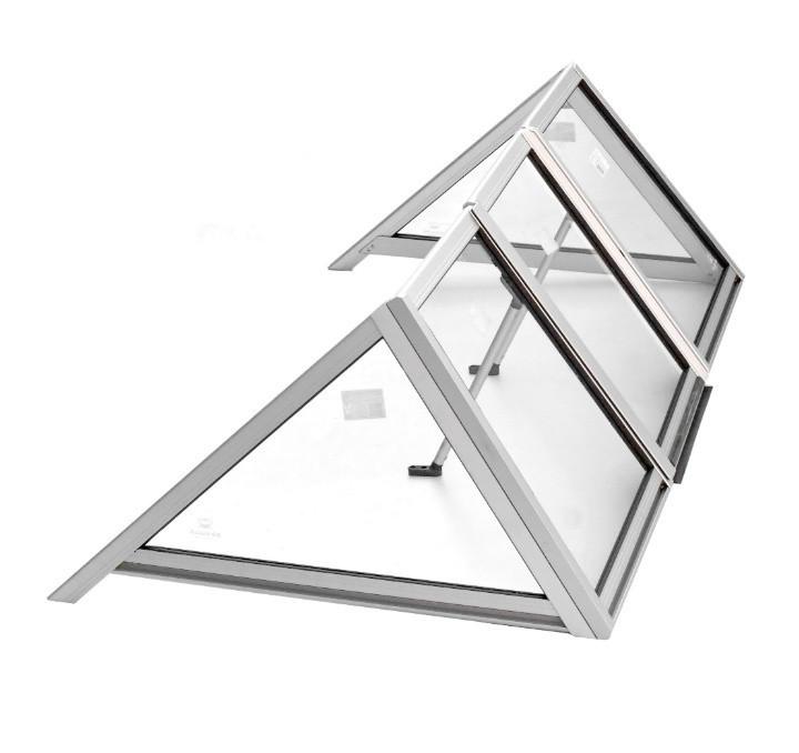 Ветровое стекло для моторной лодки Крым Премиум К материал СТЕКЛО Krym Premium k