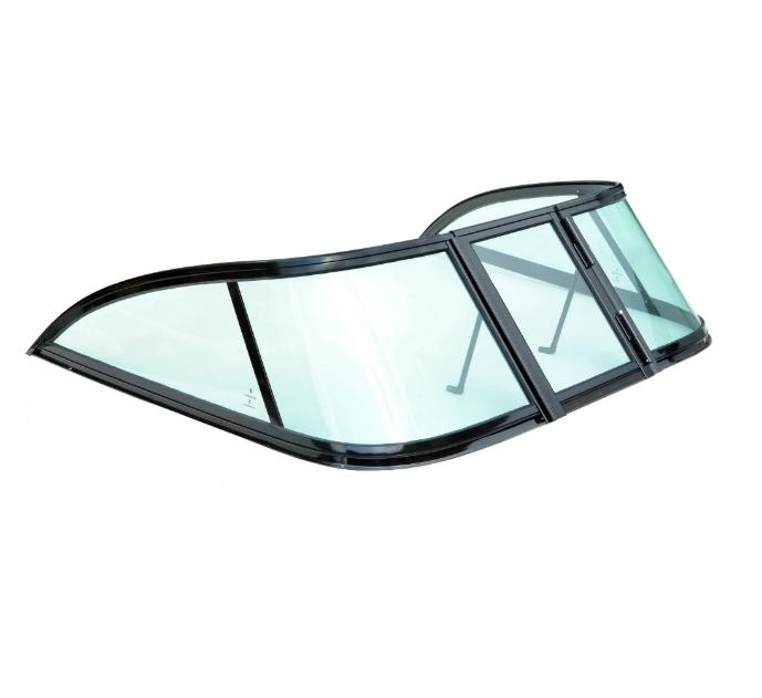 Ветровое стекло для моторной лодки GALA Ob3 материал каленое зеленое стекло