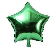 Фольгований зелений зірка - 20см