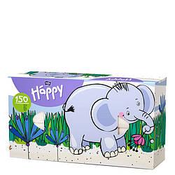 Платки бумажные универсальные двухслойные Bella Baby Happy (100 + 50 шт. Слон)