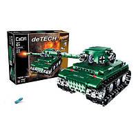 Конструктор C51018W р/у, танк, 313дет,едет, на бат-ке, в кор-ке, 44-34-9см