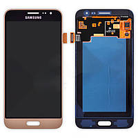 Модуль LCD SAMSUNG J3/J320 (2016) + touchscreen black/gold (рег.подсветка/light change)