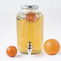 Лимонадница Simple, 4.25 л, пластиковый кран (лимонадник, диспенсер) g